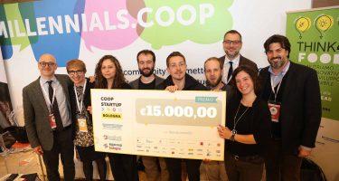 I vincitori di Coopstartup Bologna 2019 (Photo credit: Alessandro Ruggeri)